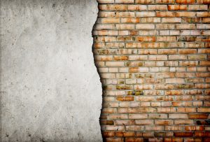 old cracked brick wall background